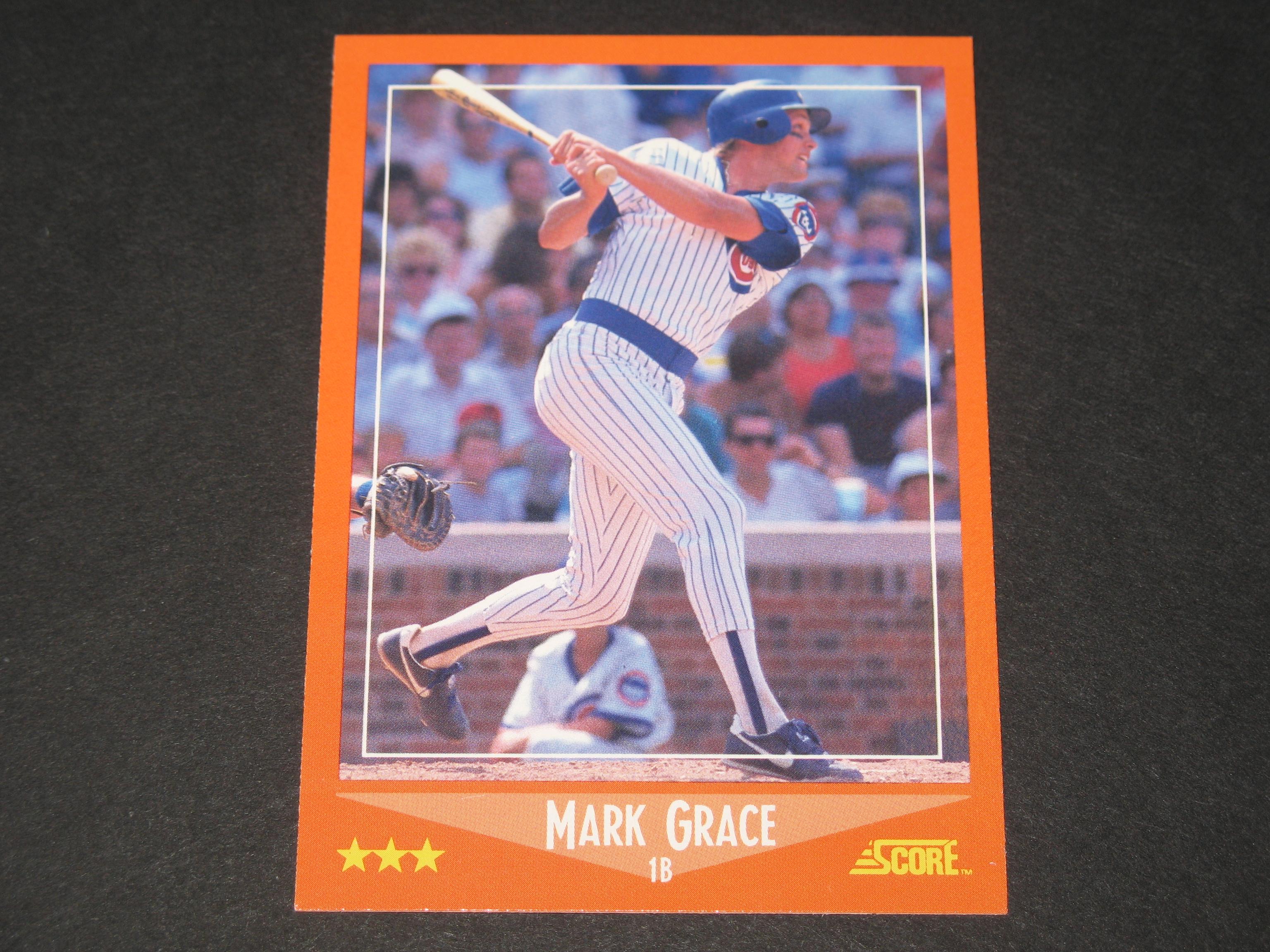 Mark Grace 1988 Score Rookie Card Baseball Amp Football Cards